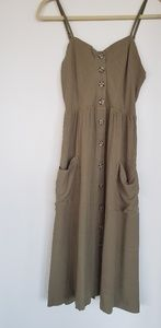 Dresses & Skirts - Good Luck Gem olive spaghetti strap casual dress